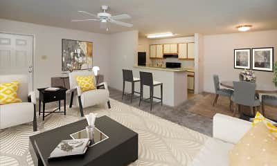 Living Room, The Greens at Westgate Apartment Homes, 0