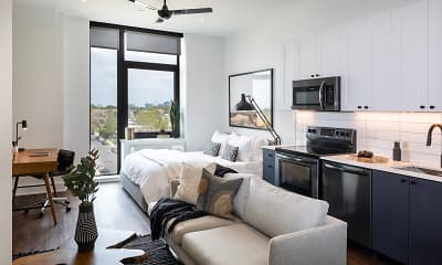 Living Room, The Irvine Apartments, 2