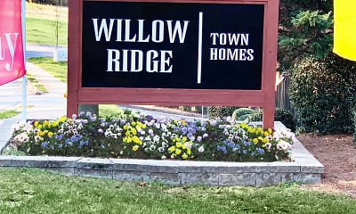 Community Signage, Willow Ridge Townhomes, 2