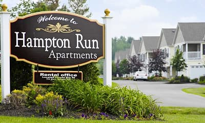 Community Signage, Hampton Run Apartments, 2