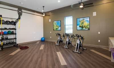 Fitness Weight Room, Landmark Apartments Tuscaloosa, 2