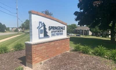 Community Signage, Springdale Apartments, 0