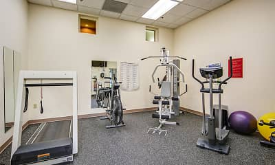 Fitness Weight Room, Lake Oaks Senior Apartments, 2
