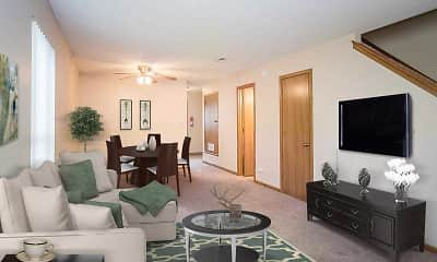 Living Room, Berkshire Apartments, 2