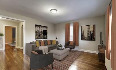 Living Room, Avondale Apartments, 0