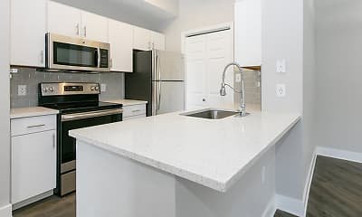 Kitchen, Altitude Westminster Apartments, 1