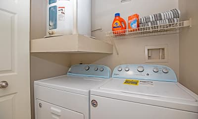 laundry room with water heater and independent washer and dryer, The Falls Round Rock, 2