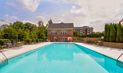Pool, Blankenbaker Crossings Apartments, 1