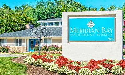 Community Signage, Meridian Bay Apartments, 0