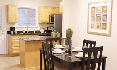 Dining Room, Summit and Birch Hill Apartments, 1