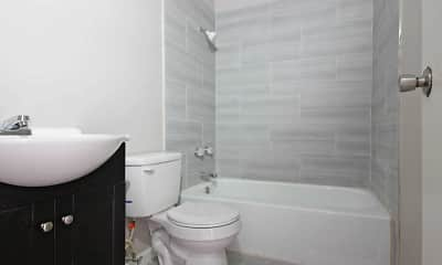 Bathroom, Morganfield Apartments, 2