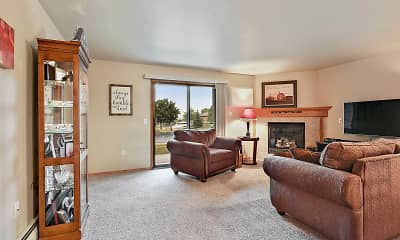 Living Room, Silver Springs Apartments, 2
