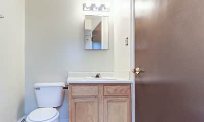 Bathroom, Glen Arms Apartments, 2