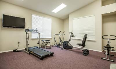 Fitness Weight Room, Brookside Senior Apartments, 2