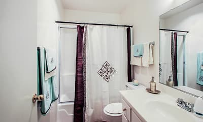 Bathroom, Brookside Apartments, 2
