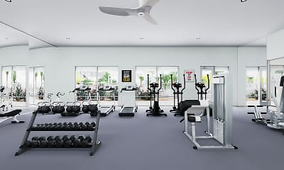 Fitness Weight Room, Park West at Stockdale River Ranch, 2