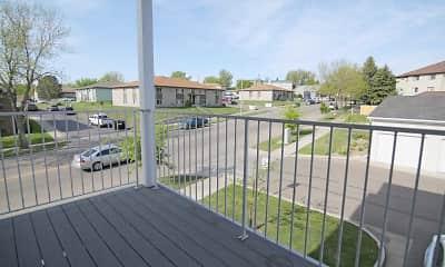 Patio / Deck, BelCastle Apartments, 2