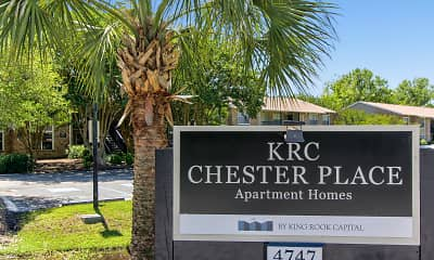 Community Signage, Chester Place Apartments and Townhomes, 0
