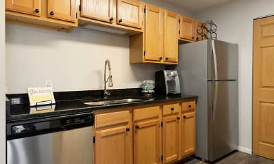 Kitchen, Birchwood Apartment Homes, 1