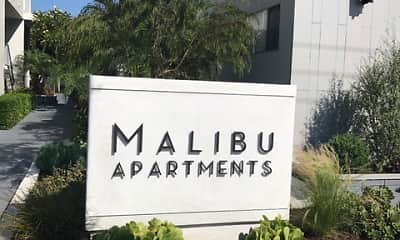 Community Signage, Malibu Apartments, 2