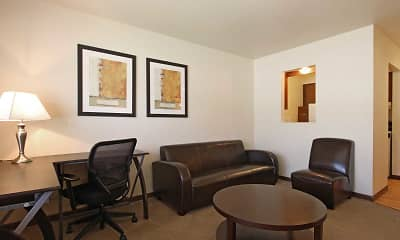 Living Room, Woodsview Apartments, 1