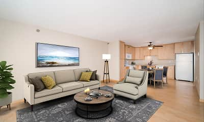 Living Room, Maple Ridge Apartment Homes, 1