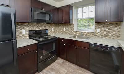 Kitchen, Woodacres Apartment Homes, 1
