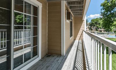 Patio / Deck, Wedgewood Apartments, 2