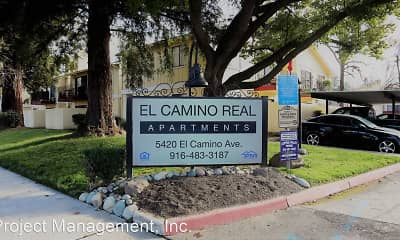 Community Signage, El Camino Real Apartments, 1