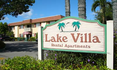 Community Signage, Lake Villa Apartments, 1