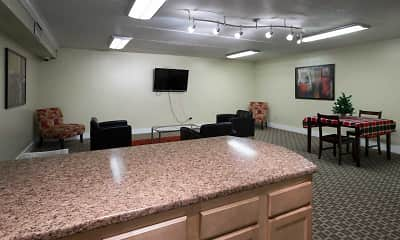 Clubhouse, Amberson Plaza Apartments, 1