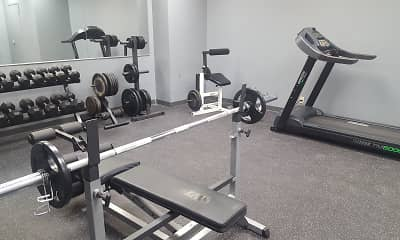 Fitness Weight Room, Westbrook Tower Apartments, 2