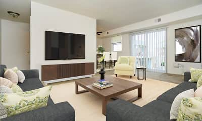 Living Room, Longview Apartment Homes, 1