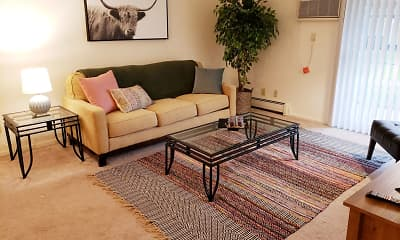 Living Room, The Pines Apartments & Townhomes, 0