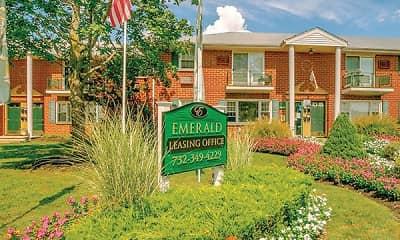 Community Signage, Emerald Apartments, 0