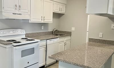 Kitchen, Pine Grove Apartments, 2