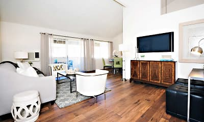 Living Room, Oakview Apartments, 0