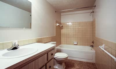 Bathroom, High Point In The Park Apartments, 2