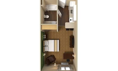 Furnished Studio - Chicago - Schaumburg - Convention Center, 2