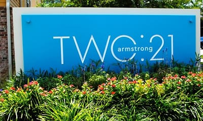 Community Signage, Two: 21 Armstrong, 2