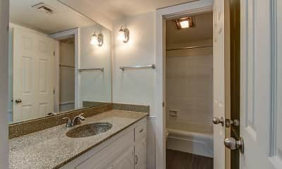 Bathroom, Casady Apartments, 2