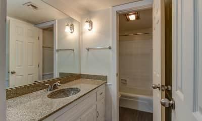 Bathroom, Casady Apartments, 2