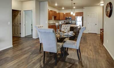 Dining Room, Lakewood Crossing Apartments, 1