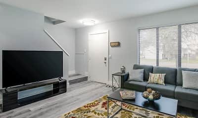 Living Room, Sycamore Townhomes, 1