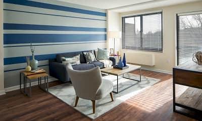 Living Room, Riverside Apartments, 1
