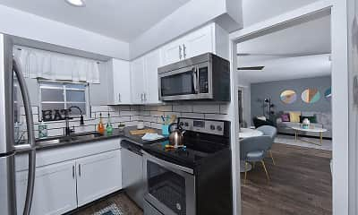 Kitchen, Watermarc Apartments, 0