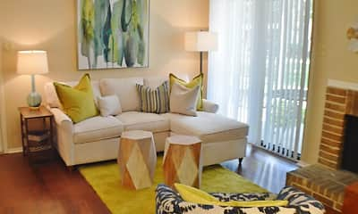 Living Room, Raintree Apartments, 1
