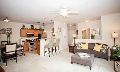 Living Room, Clemmons Town Center Apartments, 1