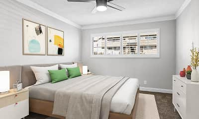 Bedroom, Rose Avenue Apartments, 1