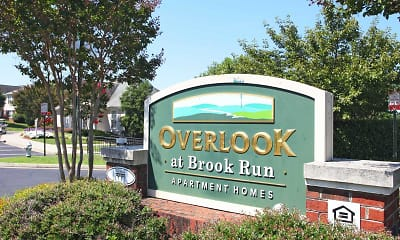 Community Signage, Overlook At Brook Run, 1